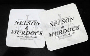Nelson & Murdock - Advocates At Law - Daredevil - Hardwood Coasters - ByCandlelight27