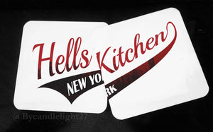 Hell's Kitchen - Stay Puft Marshmallows- New York - Daredevil - Ghostbusters - Hardwood Coasters - ByCandlelight27