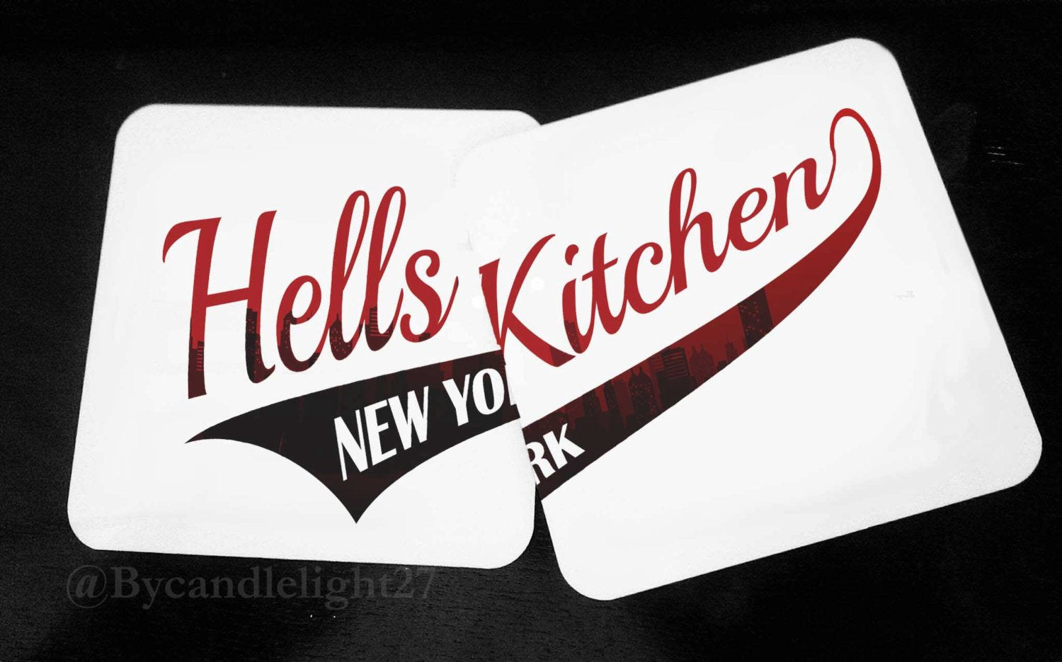 Hell's Kitchen - New York - Daredevil - Hardwood Coasters - ByCandlelight27