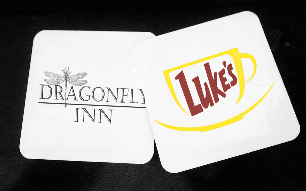 Dragonfly Inn - Luke's Diner - Gilmore Girls - Hardwood Coasters - ByCandlelight27