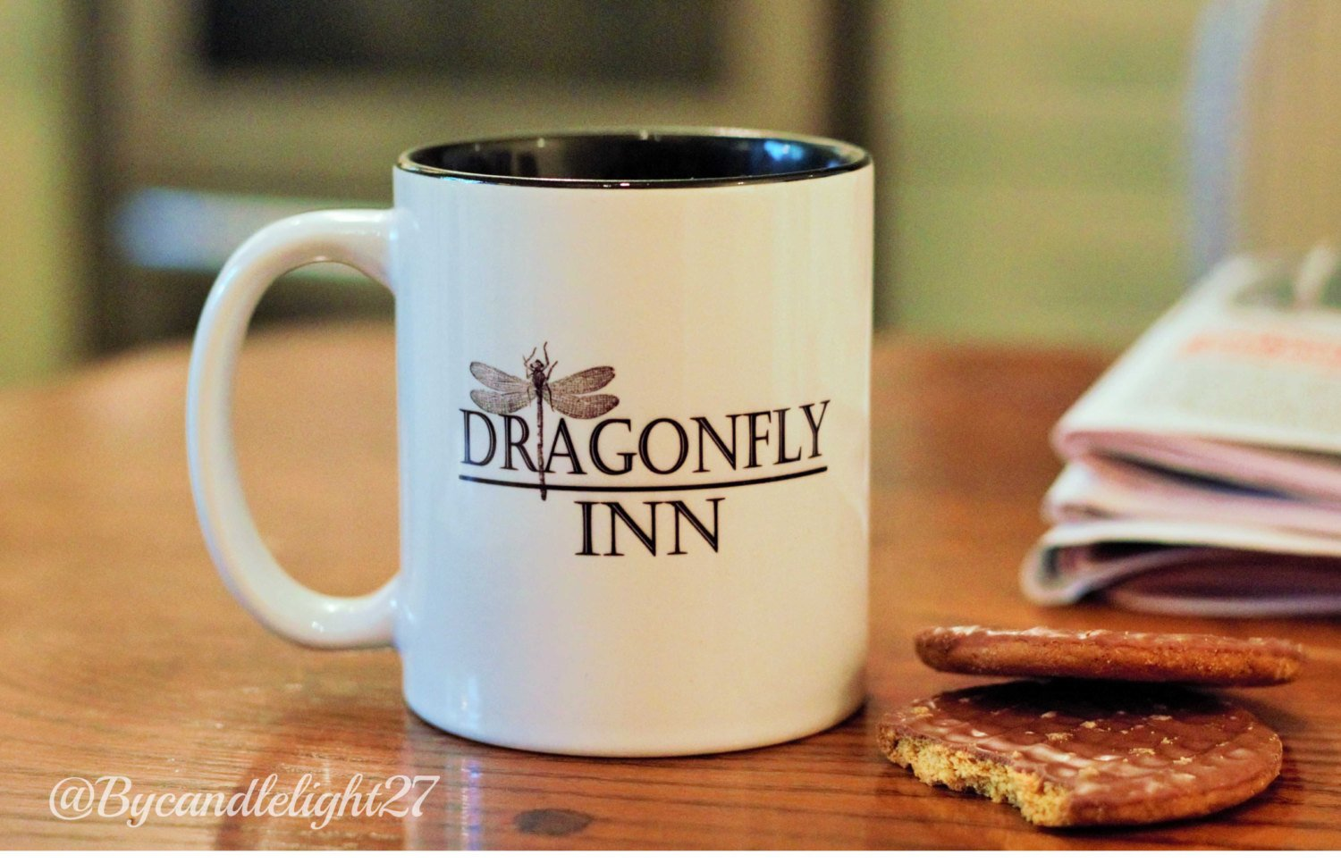Dragonfly Inn - Stars Hollow - Gilmore Girls -Inspired - Hand Crafted Cup - ByCandlelight27