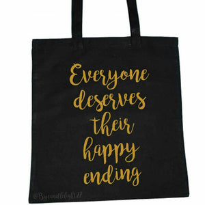 Everyone Deserves Their Happy Ending - Emma Swan - Once Upon A Time - Hand Printed - Tote Bag - ByCandlelight27