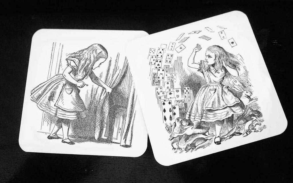 Alice in Wonderland - Hardwood Coasters - ByCandlelight27