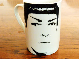 Hand Painted Zak Quinto and Chris Pine, Star Trek, cup set - ByCandlelight27