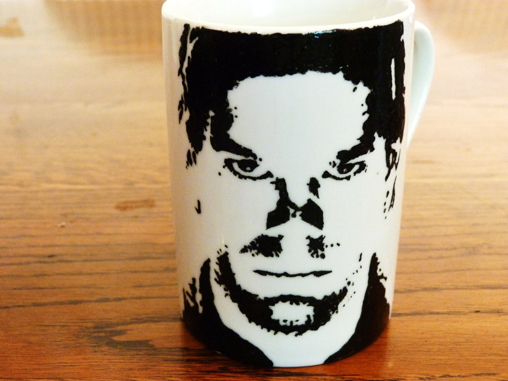 Michael C Hall, Dexter- Dexter - Six foot under - Hand Crafted Cup - ByCandlelight27