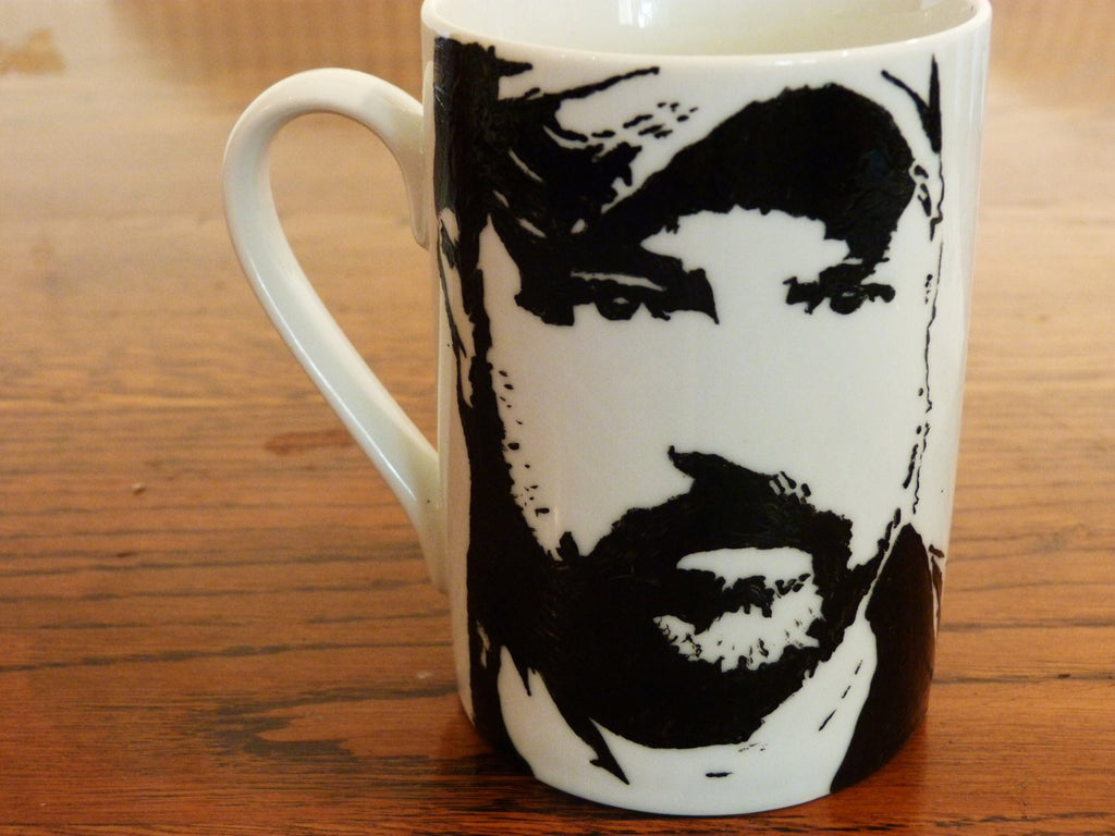 Jim Beaver, Bobby Singer, Supernatural, Deadwood, Crimson Peak, Justified, Hand Painted Cup, Hand Printed cup - ByCandlelight27