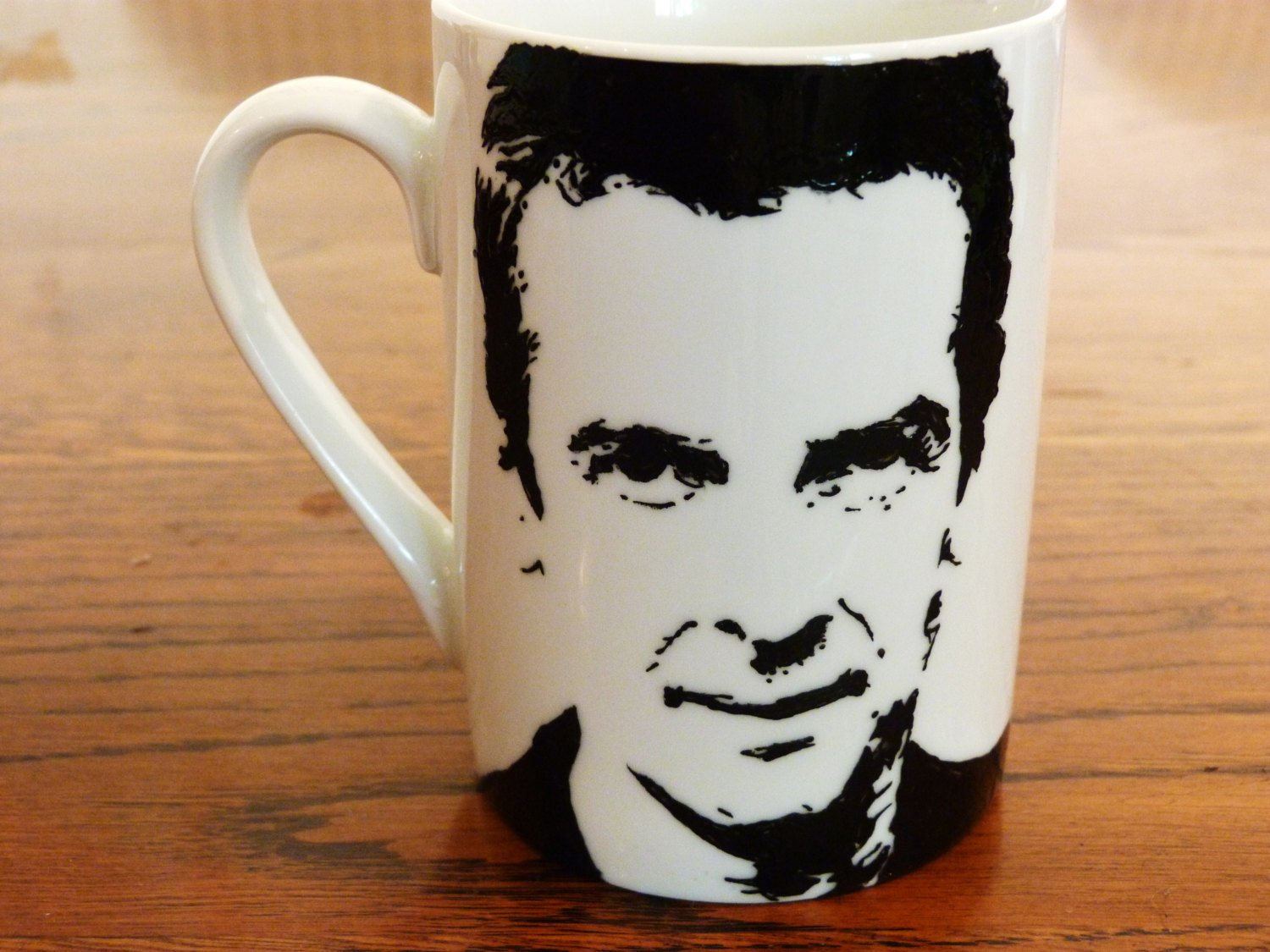 Peter Capaldi, Doctor Who, The 12th Doctor, Hand Painted, Hand Printed Cup - ByCandlelight27