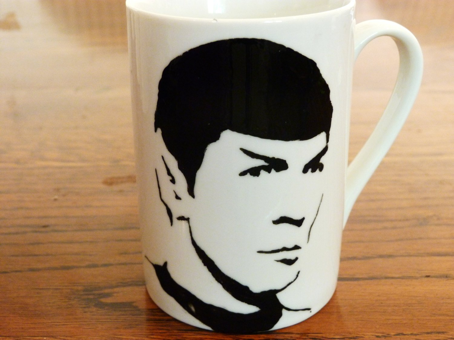Spock - Star Trek - Hand Printed Cup - ByCandlelight27