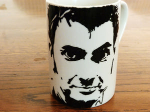 David Tennant, Doctor Who, Harry Potter, Broadchurch, Richard 2nd, Hand Printed cup, Hand Painted cup - ByCandlelight27