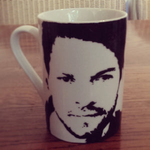 Misha Collins, Castile, Supernatural, Stonehenge Apocalypse, Girl Interrupted, Hand Painted Cup, Hand Painted Cup - ByCandlelight27