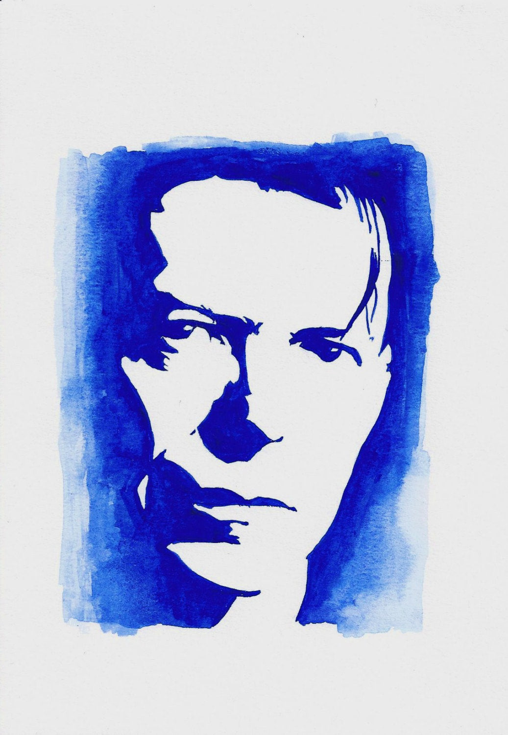 David Bowie - A4 Print - Original Watercolour - ByCandlelight27