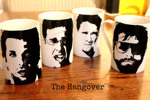 Bradley Cooper, Ed Helms, Justin Bartha, Zak Galifianaki, Doug, Allan, Phil, Stu,The Hangover, Hand Painted, Hand Printed  cup set - ByCandlelight27