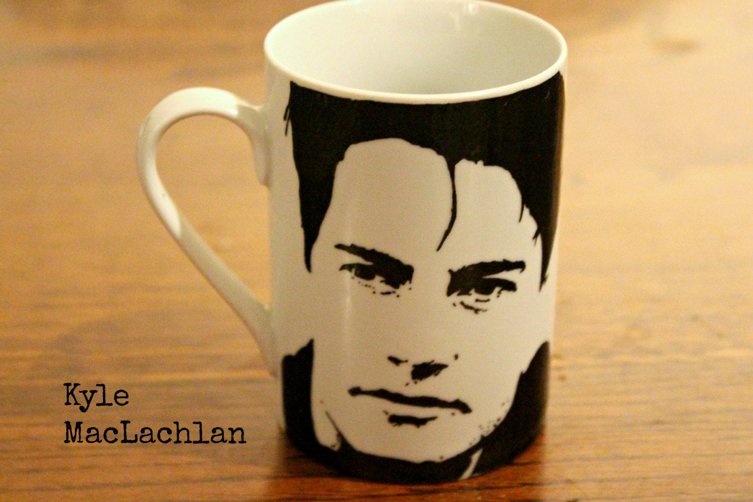 Kyle MacLachlan - Twin Peaks - Hand Printed Cup - ByCandlelight27