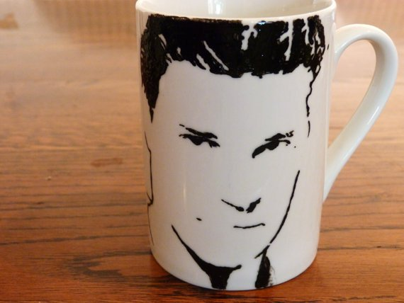 David Boreanaz, Angel, Bones, Buffy the vampire slayer, hand printed, hand painted, Cup - ByCandlelight27