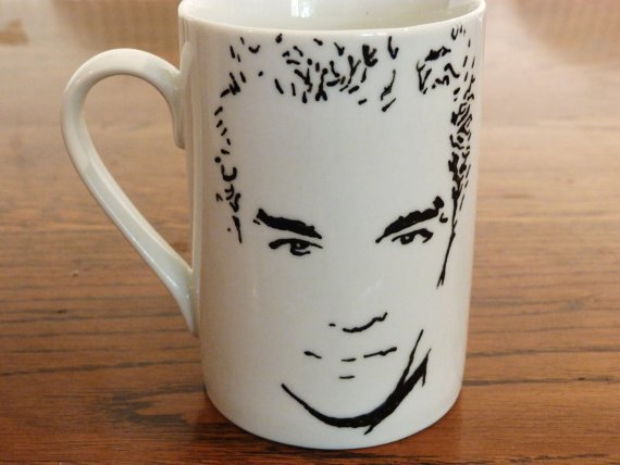 James Marsters, Spike, Buffy the Vampire Slayer, Angel, Witches of East End,  Hawaii Five-0, Hand Printed, Hand Painted, Cup - ByCandlelight27