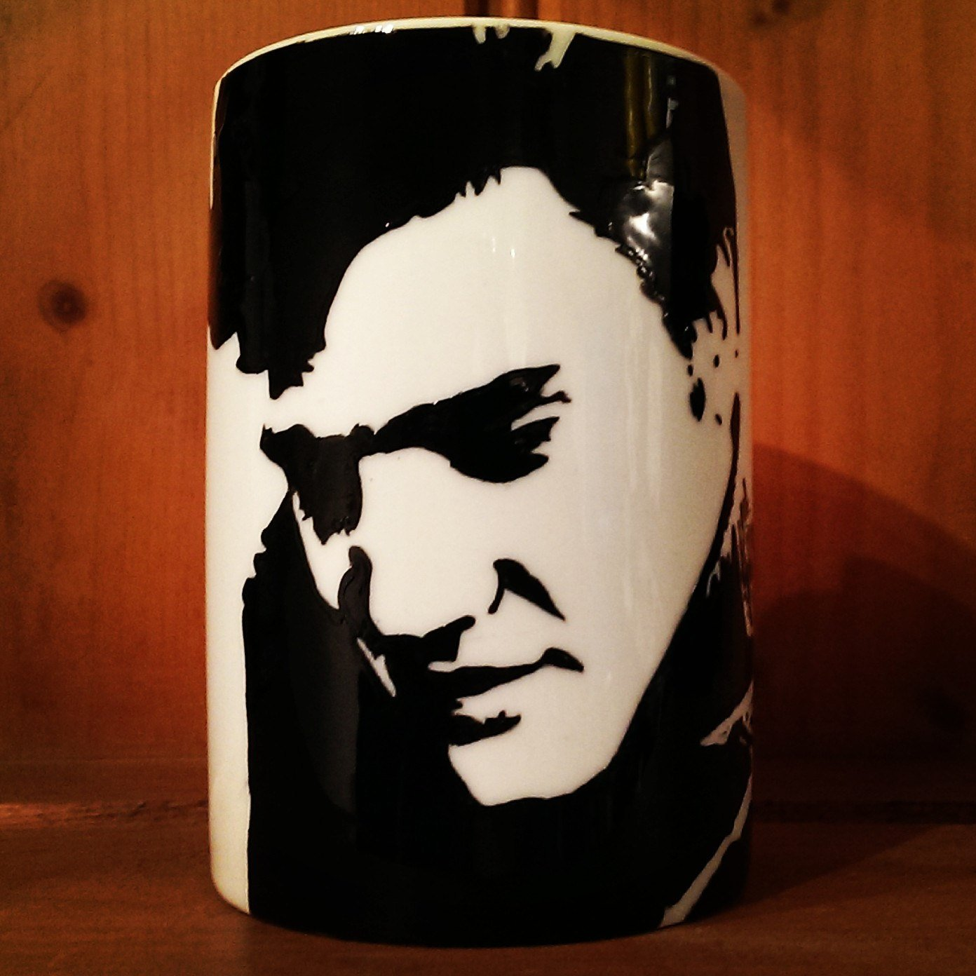 Elvis Presley -.The King of Rock and Roll - Hand Printed Cup