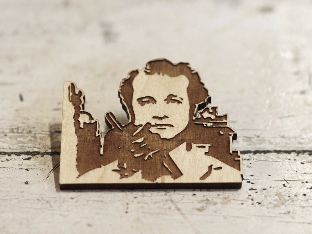 Limited Edition, Bill Murray, Peter Venkman, Ghostbusters, Laser Engraved, wood cut brooch - ByCandlelight27