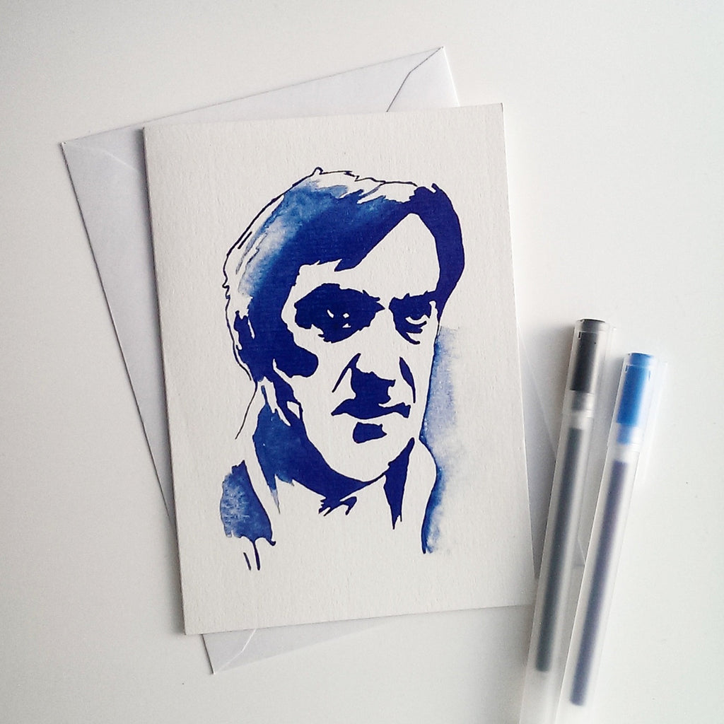 Patrick Troughton, Docror Who, The Omen, Hamlet, Greetings Card - ByCandlelight27