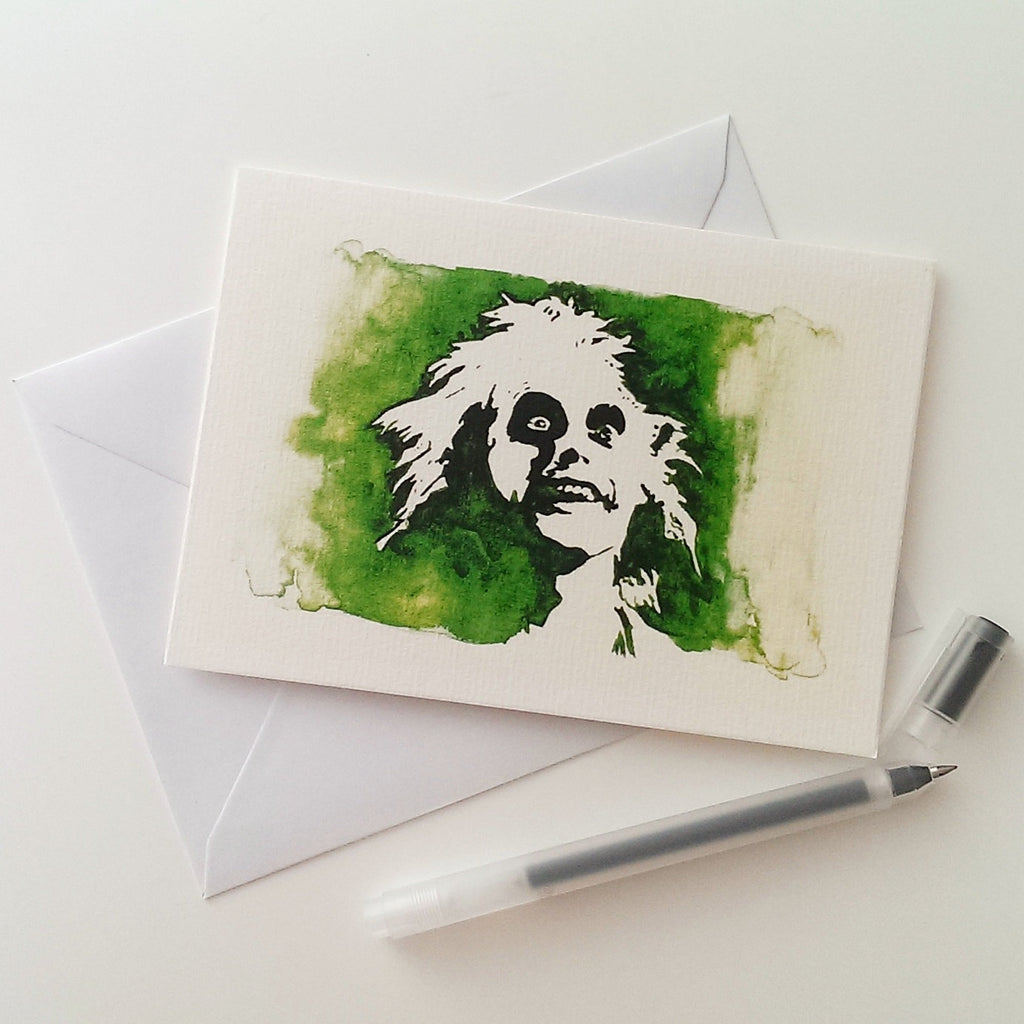 Michael Keaton, Beetlejuice, Betegeuse, Greetings Card - ByCandlelight27
