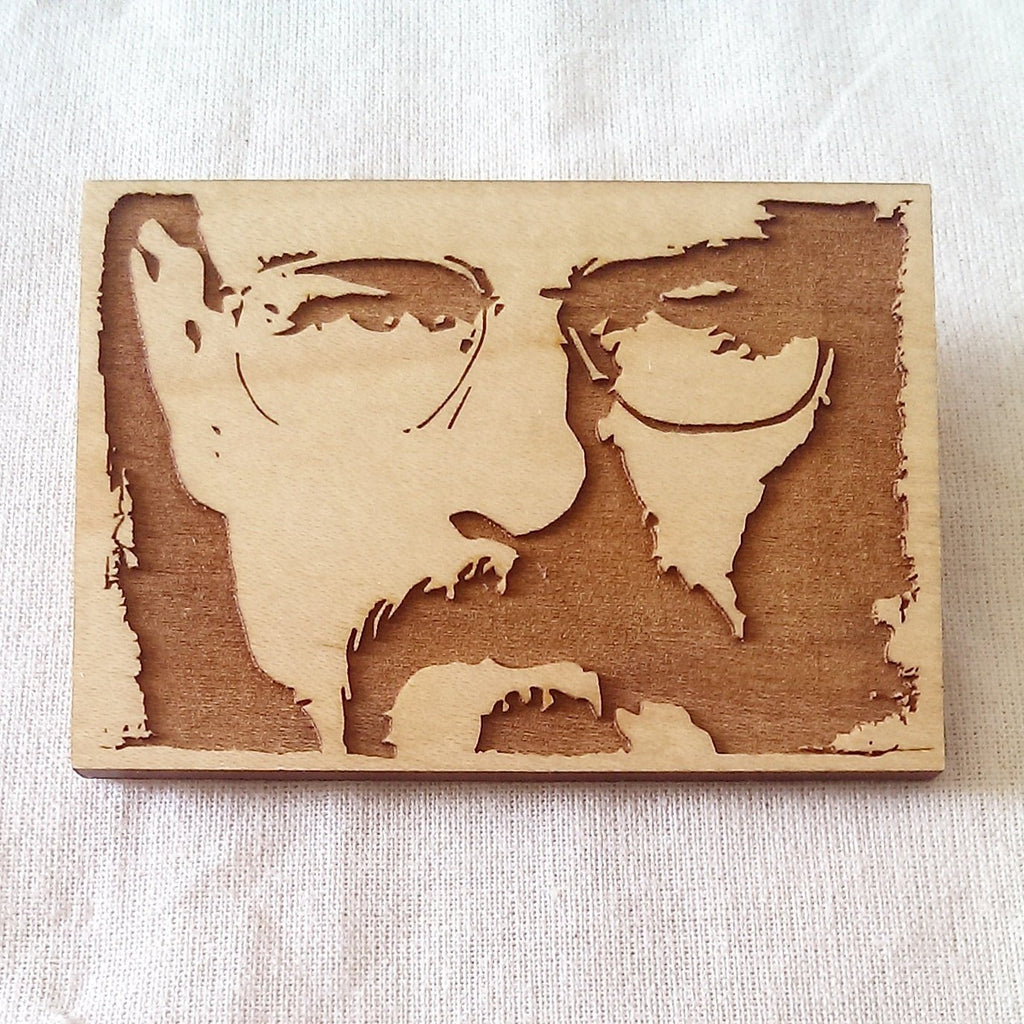 Limited Edition - Bryan Cranston, Breaking Bad - Walter White - Engraved - Key Ring, Magnet or brooch - ByCandlelight27
