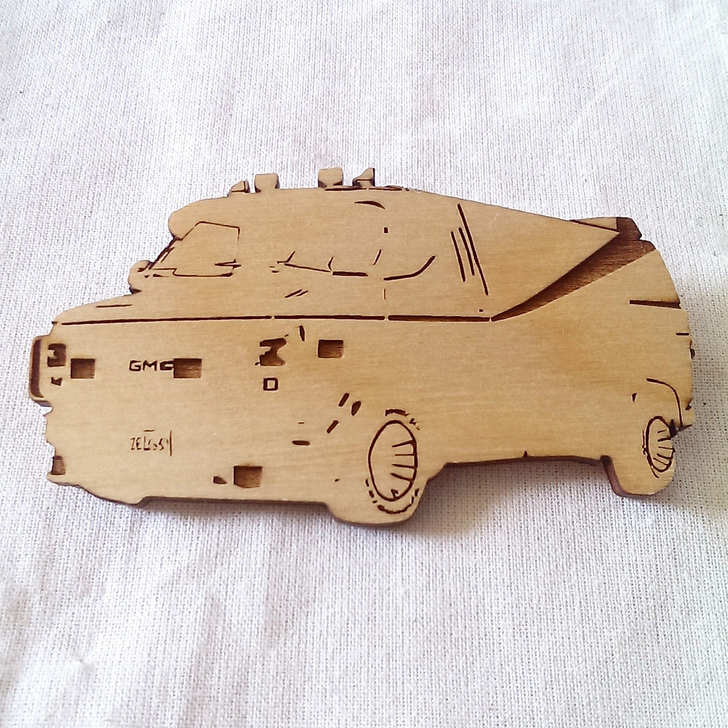 Limited Edition,GMD Van, A Team Van, The A Team, Wood cut, Lasercut, Key Ring, Magnet, Brooch - ByCandlelight27