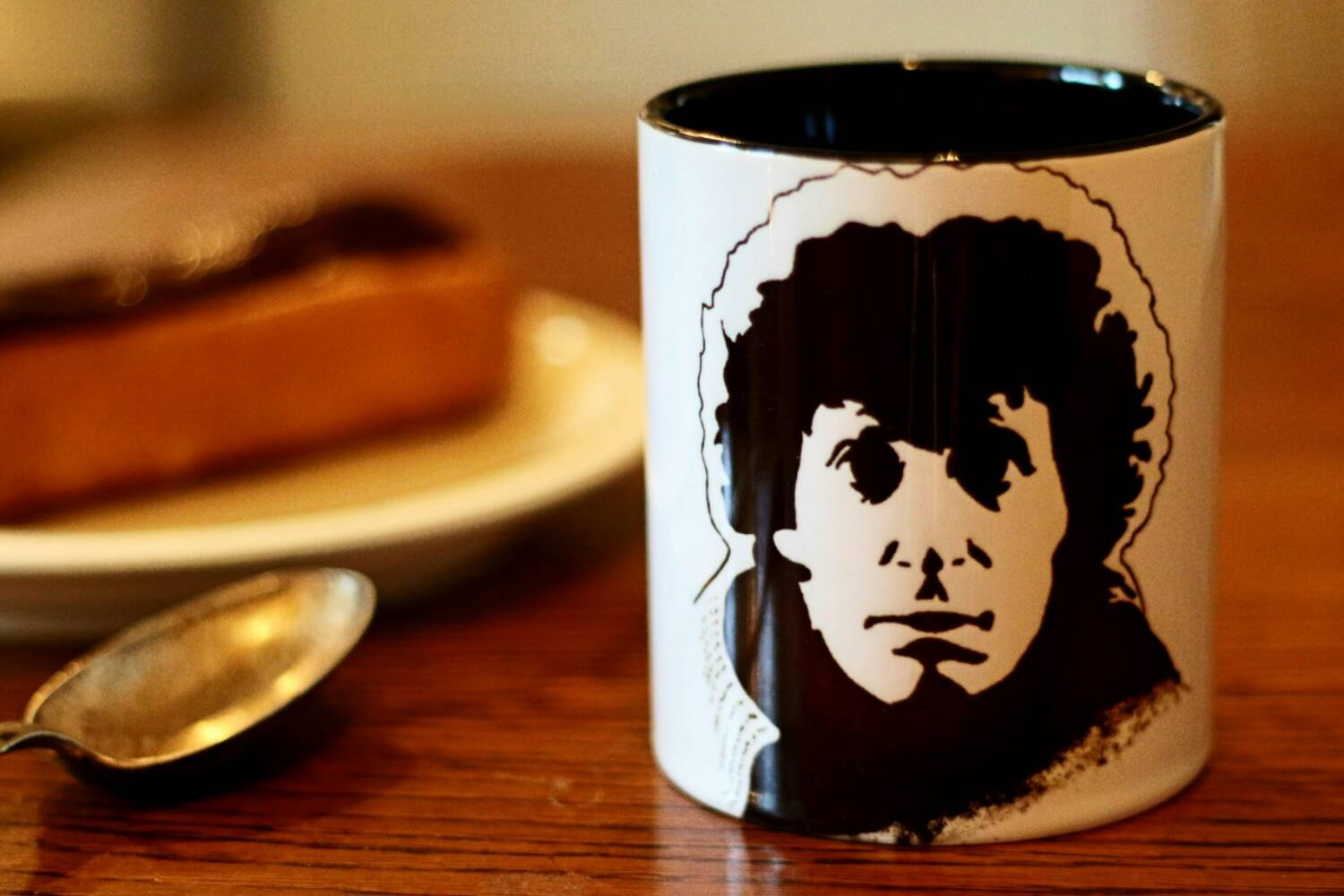 Tom Baker, Doctor Who, 4th Doctor, Hand Painted, Hand Printed Cup