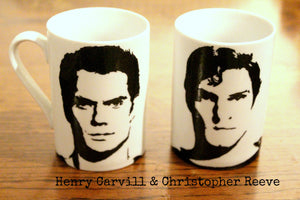 Henry Cavill - Man of Steel - Superman - Immortals, Cold Light of Day, Hand Printed, Hand painted  cup - ByCandlelight27