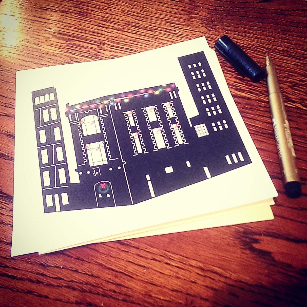 Ghostbusters Fire House, Ghostbusters HQ, Christmas Card, Seasons greetings - ByCandlelight27