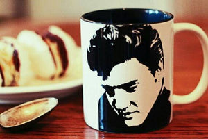 Elvis Presley -.The King of Rock and Roll - Hand Printed Cup - ByCandlelight27