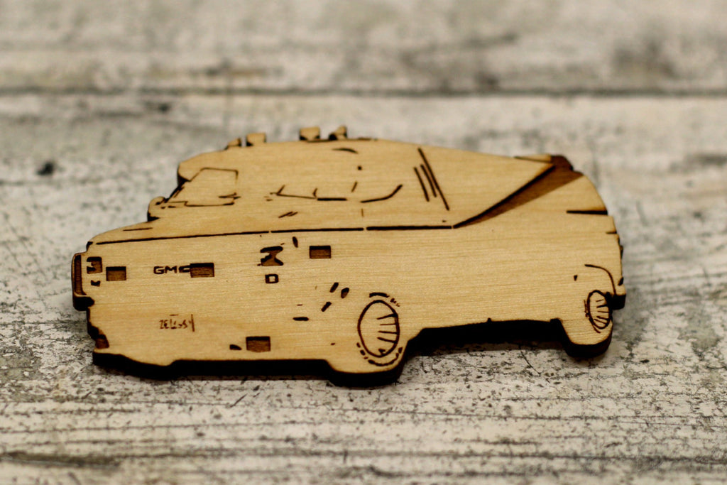 Limited Edition GMD- A Team Van, The A Team Wood Cut Key Ring - Magnet - ByCandlelight27