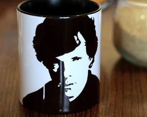 Benedict Cumberbatch and Martin Freeman set, sherlock Holmes, Doctor Watson Star Trek, Lord of the Rings, The Hobit, Hand Painted Cup Set