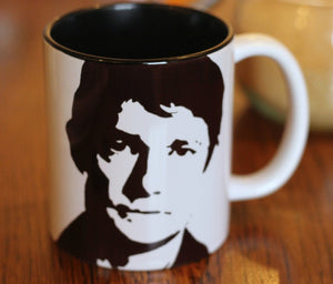 Martin Freeman, Sherlock, The Hobbit, Fargo, Doctor Watson, Hand Printed, hand painted, Cup - ByCandlelight27