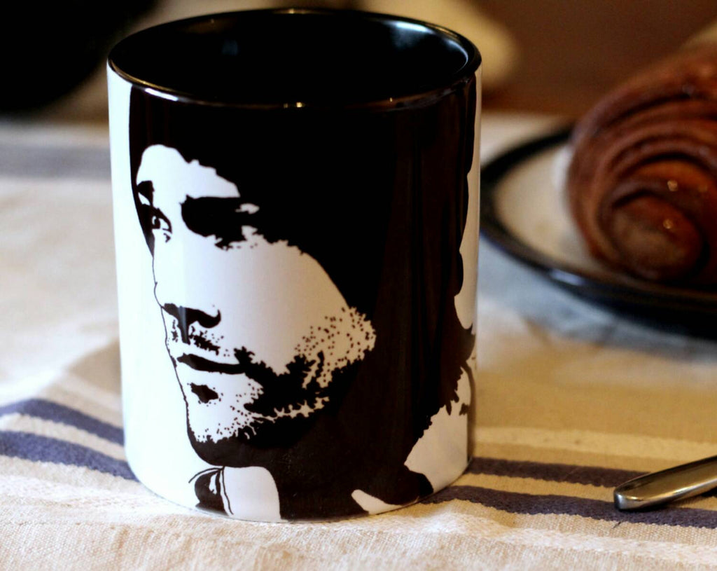 Jared Padalecki, Supernatural, Friday the 13th, House of Wax, Sam Winchester, Hand Painted Cup, Hand Printed cup - ByCandlelight27