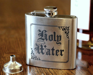 Holy Water Hip Flask, Supernatural Inspired, Drinking Flask - ByCandlelight27