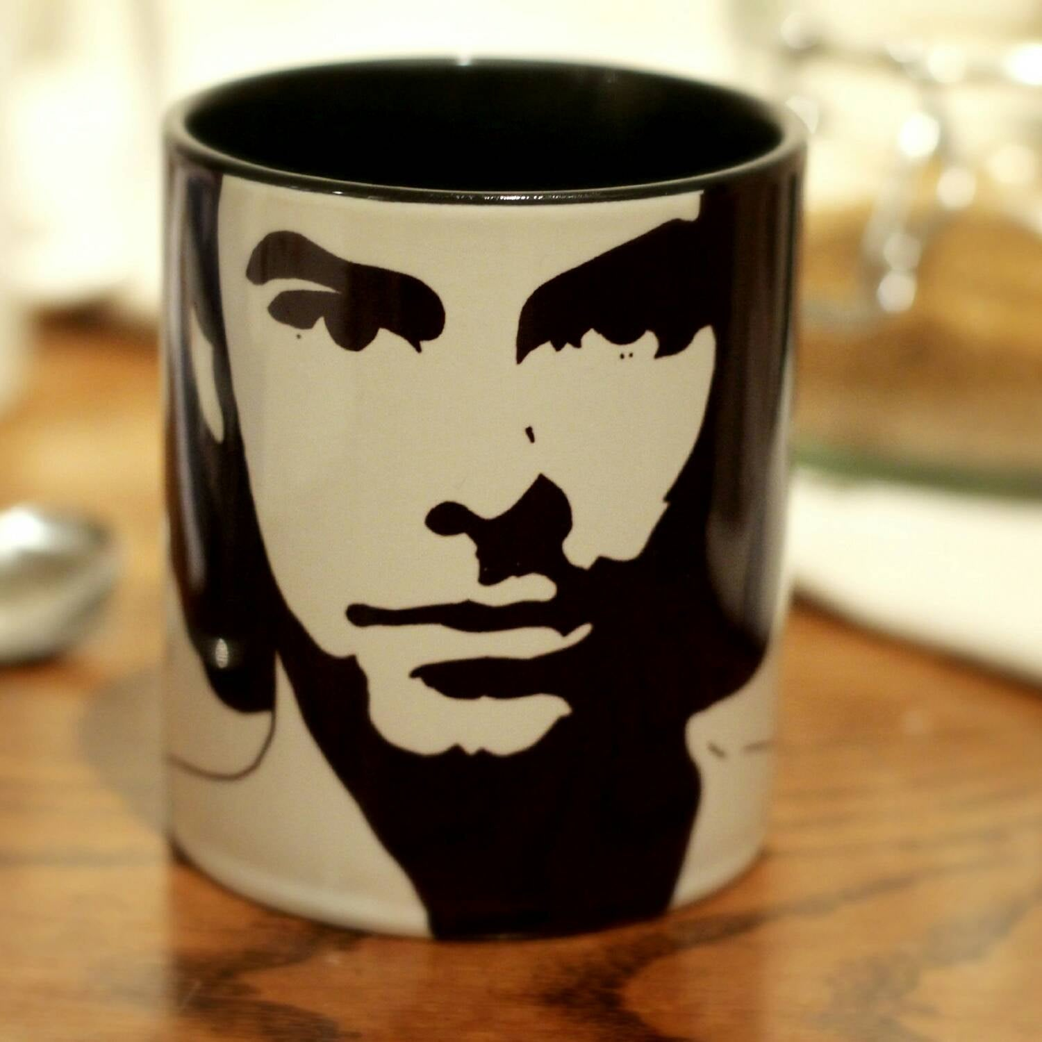 Aidan Turner, , Being Human, Kili, The Hobbit, The Mortal Instruments, Hand Printed Mug - ByCandlelight27