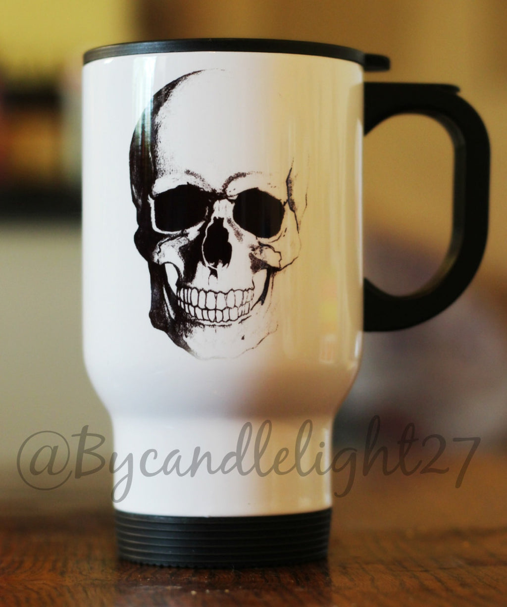 Anatomical Skull,Anatomy, Human Skull, Travel Mug, Thermal Cup - ByCandlelight27