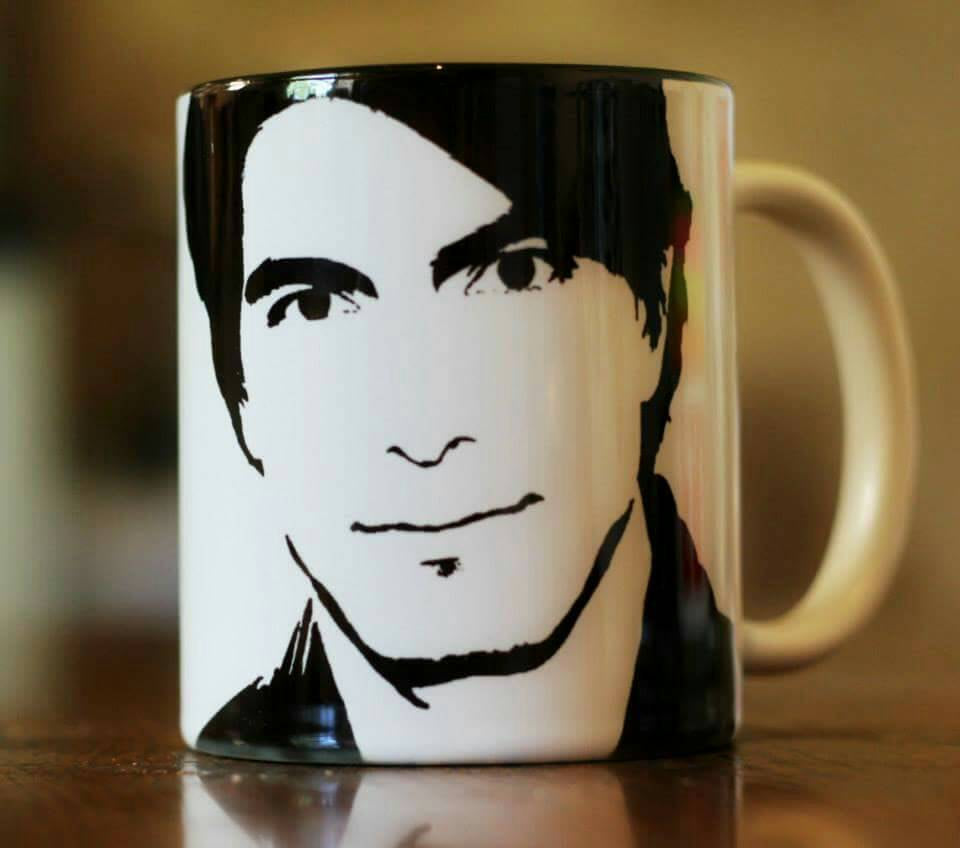 Brandon Routh Hand Printed cup - ByCandlelight27
