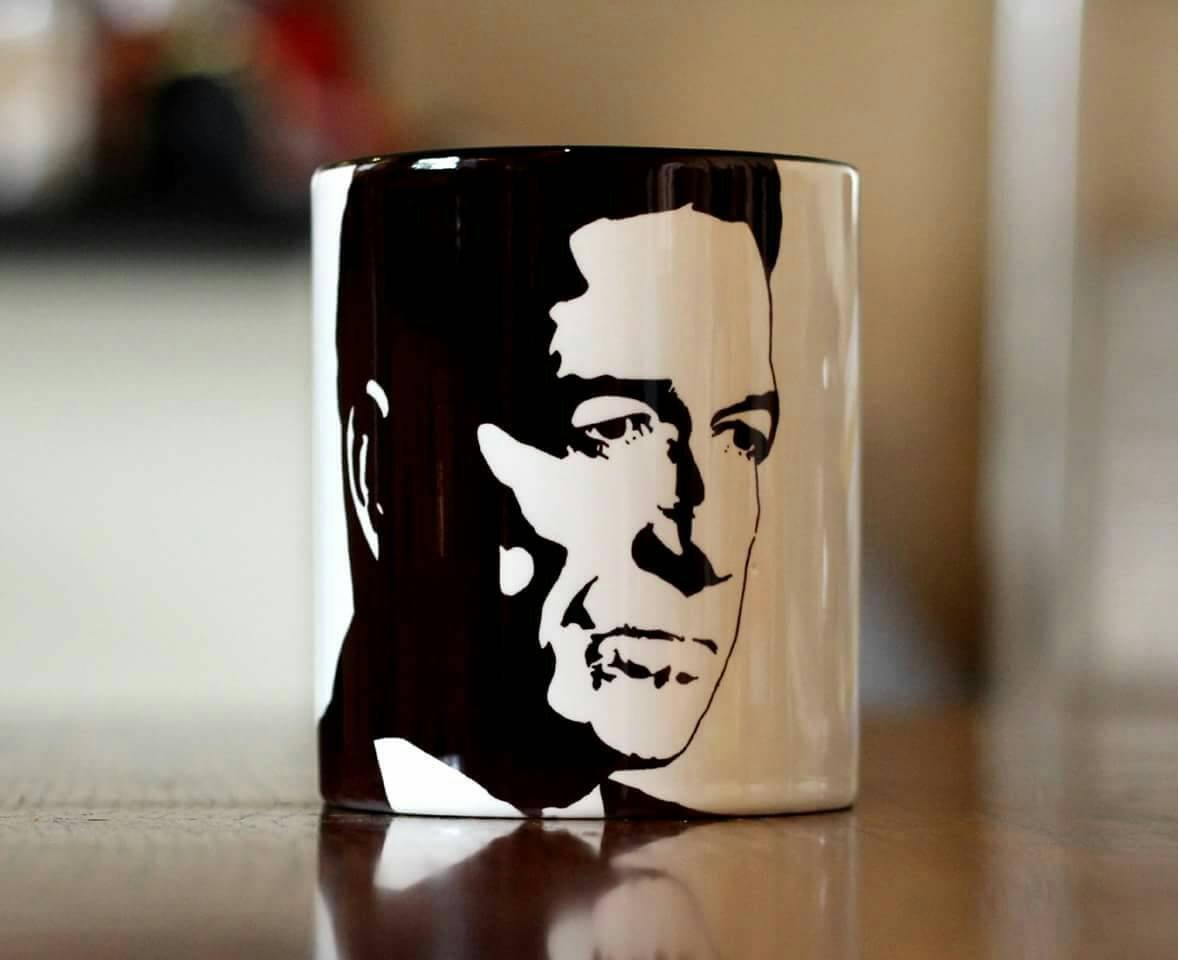 Sean Pertwee, Gotham, Alfred Pennyworth, Equilibrium, Dog Soldiers, Hand Printed cup. - ByCandlelight27