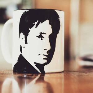 David Duchovny Hand printed cup - ByCandlelight27