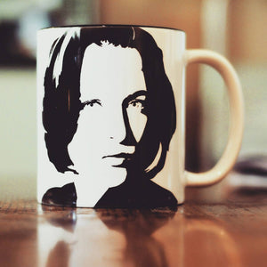 Gillian Anderson, Dana Scully, The X Files, The Following, Hand printed cup - ByCandlelight27