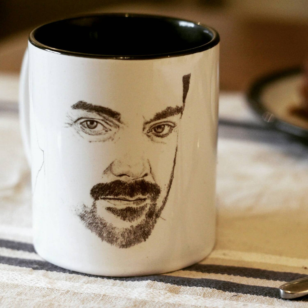 Limited Edition, Mark Sheppard, Supernatural, Crowley, Doctor Who, Warehouse 13, White Collar, Leverage, hand printed Cup - ByCandlelight27
