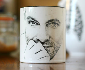 Stephen Amell, The Green Arrow, Arrow, Oliver Queen,  Hand Printed cup. - ByCandlelight27