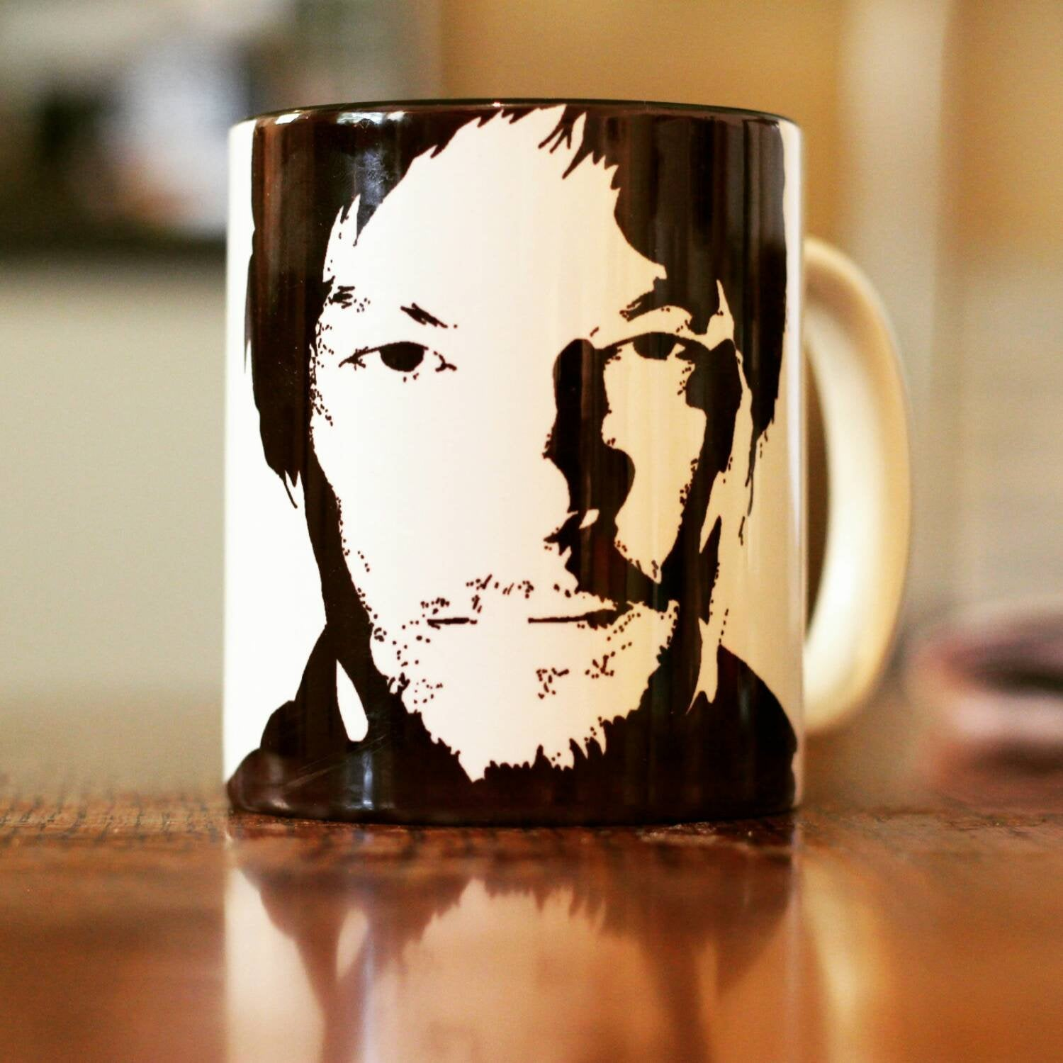 Andrew Linciln, Rick grimes, The Walking Dead, Love Actually, Hand Printed cup - ByCandlelight27