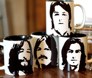 The Beatles, John Lennon, Paul McCartney, Ringo Star, George Harrison cup set - ByCandlelight27