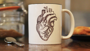 Anatomical Heart Illustrated 10oz Cup - ByCandlelight27