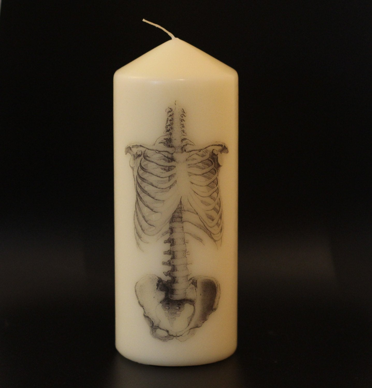 Skeleton - Pillar Candle - Anatomical Decor - ByCandlelight27