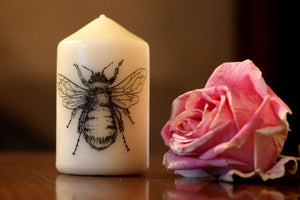 Bumble Bee - Pillar Candle - Anatomical Decor - ByCandlelight27