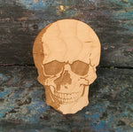 Hand Drawn Anatomical Skull, wood Cut, original illustration, Brooch - ByCandlelight27
