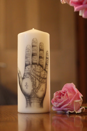Palmistry Hand - Pillar Candle - Anatomical Decor - ByCandlelight27