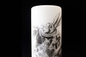 Alice In wonderland - The White Rabbit  - Pillar Candle - Whimsical Decor - ByCandlelight27